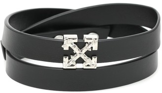 Off-White Arrows logo leather bracelet