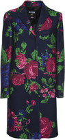 MSGM Floral Single Breasted Coat