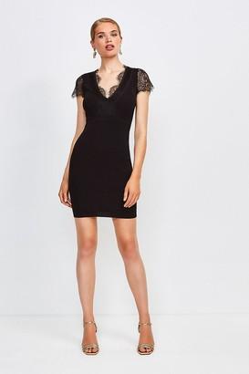 Karen Millen Lace Detail Knitted Dress