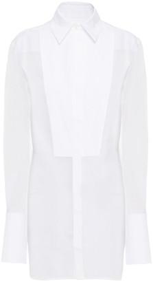 Victoria Victoria Beckham Poplin-paneled Silk-organza Shirt