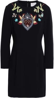 Cinq à Sept Josephine Embellished Crepe Mini Dress
