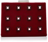 Nasty Gal Power Grid Velvet Clutch