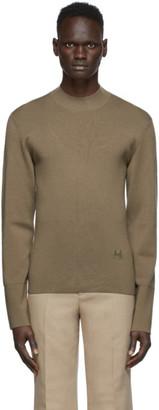 Kenzo Khaki Wool Tiger Sweater