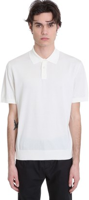 Ermenegildo Zegna Polo In White Cotton