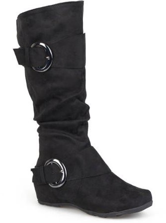 46ba1695153 Women's Buckle Accent Slouchy Mid-Calf Boots