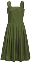 MAISON KITSUNÉ Women's Iris Open Back Long Dress Khaki