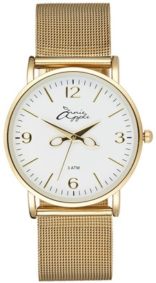 Bermuda Watch Company Annie Apple Alore Gold Mesh Hairdresser Scissor Hands Watch