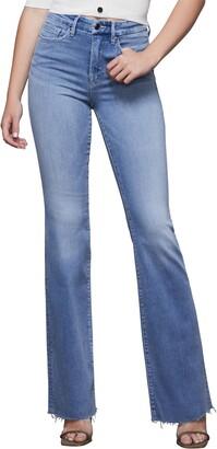 Good American Good Flare Fray Hem Jeans