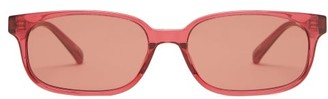 Linda Farrow X Attico - Gigi Rectangular Acetate Sunglasses - Red