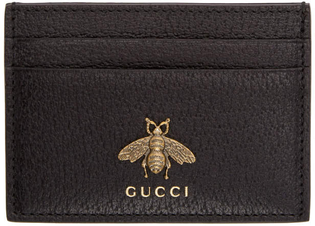 Gucci Black Bee Card Holder