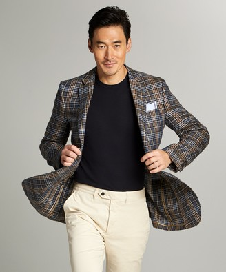 Todd Snyder Sutton Hopsack Linen Sport Coat in Red Check