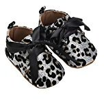 HOT Sale! Baby Shoes, TRENDINAO Newborn Baby Toddlers Girls Boys Sequins Shoes Leopard Up Slip Lace Bow Tie Sneaker (0-6 Months, White)