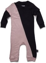 Nununu Infant 1/2 & 1/2 Playsuit - Black/Powder Pink
