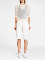 DKNY Mesh Stitch Tee Pullover