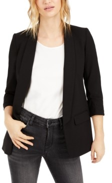 Bar III Ruched Boyfriend Blazer, Created for Macy's