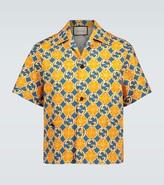 Gucci GG Quatrefoil cotton canvas shirt