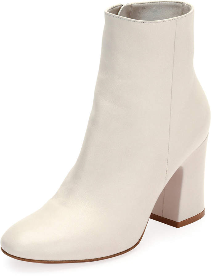 Gianvito Rossi Shelly 85 Napa Leather Block-Heel Boot