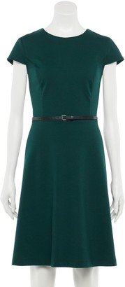 Apt. 9 Women's Cap Sleeve Belted Dress