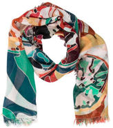 Kenneth Jay Lane Multicolor Printed Scarf