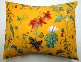 SheetWorld Twin Pillow Case - Percale Pillow Case - Floral Yellow - Made In USA