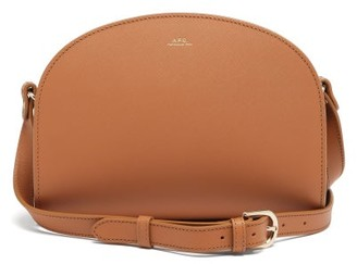 A.P.C. Half Moon Saffiano-leather Cross-body Bag - Light Tan