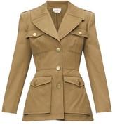 Alexander McQueen Single-breasted Cotton-canvas Safari Jacket - Womens - Khaki