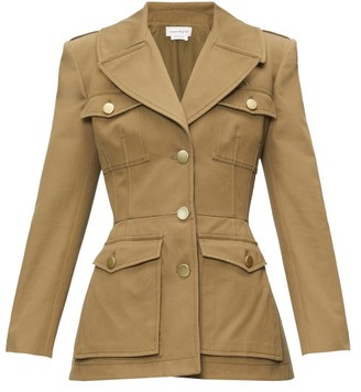 Alexander McQueen Single-breasted Cotton-canvas Safari Jacket - Khaki