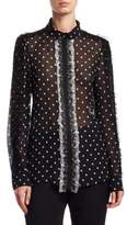 Giambattista Valli Polka Dot Silk Blouse