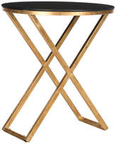 Safavieh Riona Accent Table, Gold, Black Glass Top