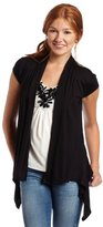 Amy Byer A. Byer Juniors Cardigan with Tank