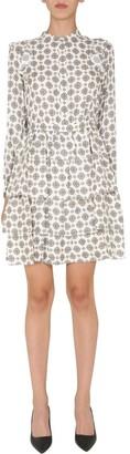 MICHAEL Michael Kors Geometric Print Tiered Mini Dress
