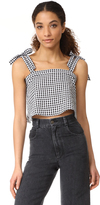 Madewell Plaid Tie Shoulder Tank