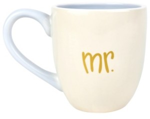 Coton Colors by Laura Johnson Mr. and Mrs. Mug Set of 2