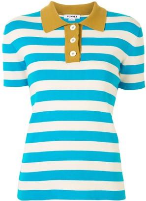 Sunnei Striped Polo Shirt