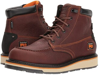 Timberland Gridworks 6 Moc Soft Toe Waterproof (Brown Tempest Rancher) Men's Work Lace-up Boots
