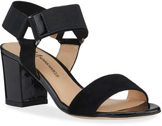 Neiman Marcus Mixed Leather Sandals