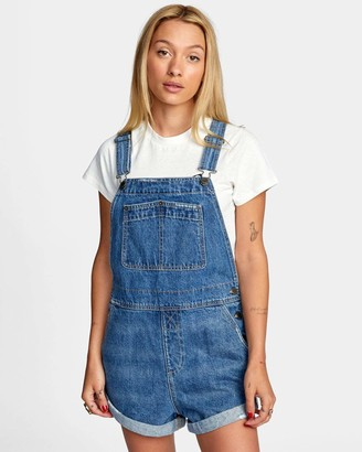 RVCA Women's Marley Dungaree Romper
