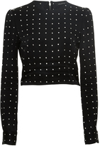 Jill Stuart Martine Embellished Crop Top