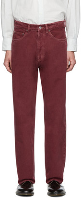 Our Legacy Red Third Cut Jeans