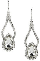 Cezanne Rhinestone Pear Shape Double Drop Earrings