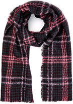 Oasis Window check dogtooth scarf