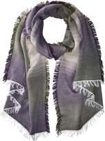 La Fiorentina Women's Italian Alpaca Soft Scarf with Ombre Design