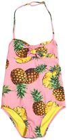 Dolce & Gabbana Pineapple Print Lycra One-Piece Swimsuit