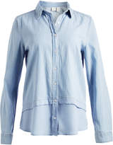 Caribbean Joe Blue Chambray Layered Button-Up - Plus Too