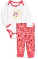 Skip Hop Infant Girl's 'Baby Says' Graphic Bodysuit & Pants Set