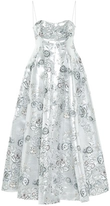 Erdem Adalyn floral jacquard maxi dress