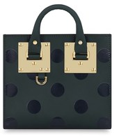 Sophie Hulme 'Albion' Polka Dot Leather Crossbody Bag - Green