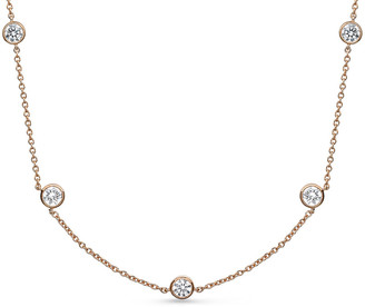 Memoire 18K 1.00 Ct. Tw. Diamond By The Yard Necklace