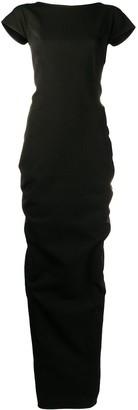 Rick Owens Backless Cap Sleeve Dress