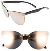 Quay Higher Love 62mm Mirrored Cat Eye Sunglasses